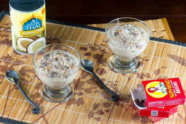 Coconut Raisin Sorghum Pudding 02 | Inspiration Kitchen