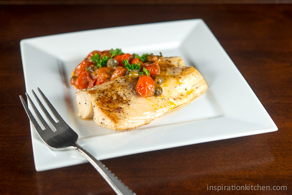 Pan Roasted Fish Mediterranean Tomato Sauce 01 | Inspiration Kitchen