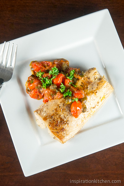 Pan Roasted Fish Mediterranean Tomato Sauce | Inspiration Kitchen-0540